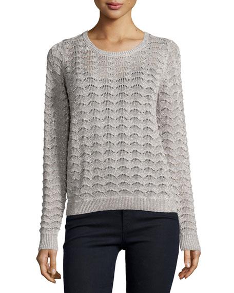 Parker Bernie Long-Sleeve Sweater, Platinum