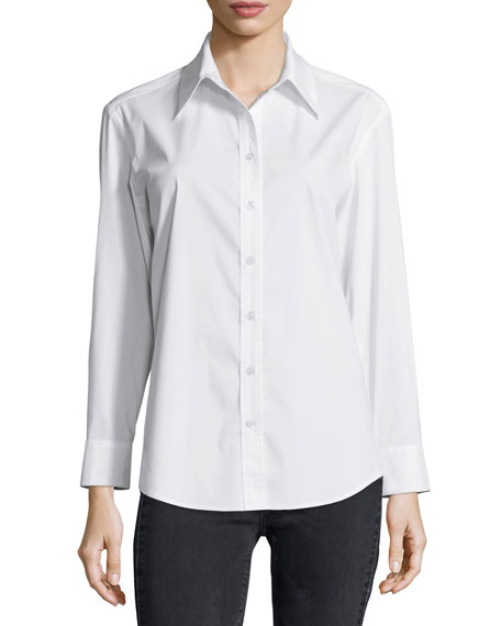 Finley Barrett Long-Sleeve Blouse & Clarissa Cropped Skinny