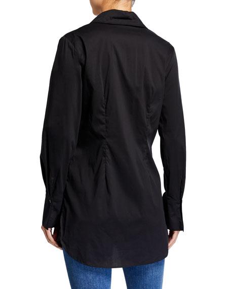 Kaylynn Button-Front Tunic, White