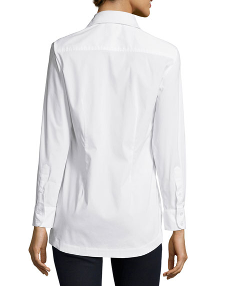Joey Tailored Long-Sleeve Blouse