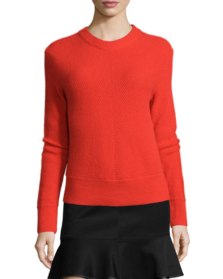 Rag & Bone Alexis Cashmere Pullover Sweater, Fiery Red