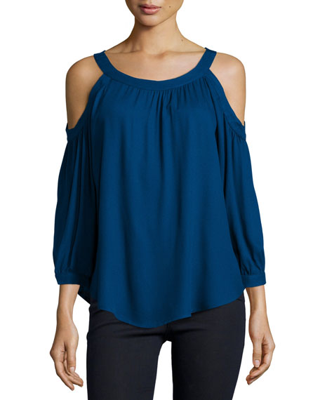 Stella Cold-Shoulder Top, Ink