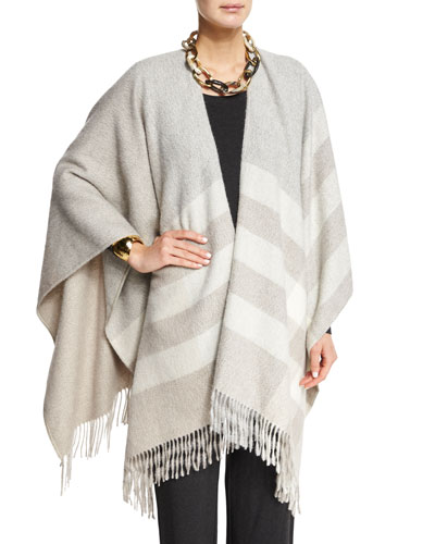 Fisher Project Undyed Blanket Plaid Poncho