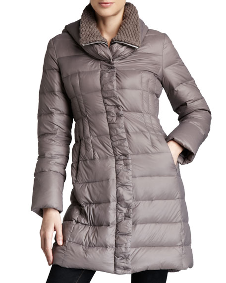 T Tahari Olivia Packable Puffer Coat