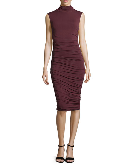 Bailey 44 Ludlow Sleeveless Ruched Dress, Merlot