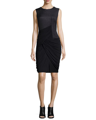 Debbie Sleeveless Fitted Dress, Black