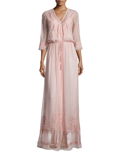 Cynthia Vincent Vintage Boho Maxi Dress, Blush