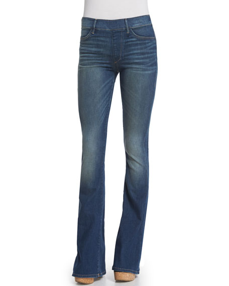 Runway Flare-Leg Jeans, Pacific Blue