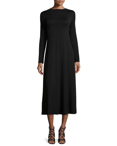Deena Mock-Neck A-Line Dress, Women's