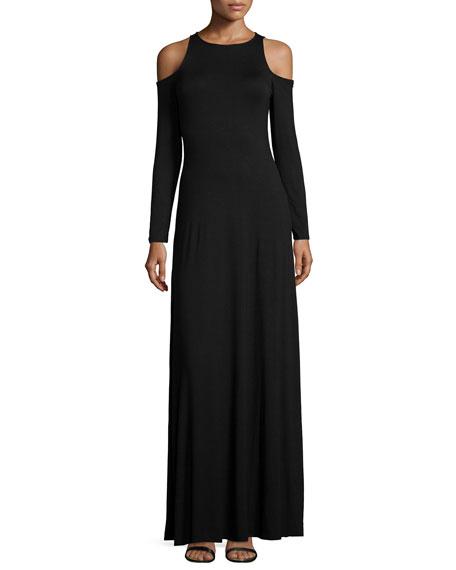 Rachel Pally Romie Long-Sleeve Cold-Shoulder Maxi Dress, Plus Size