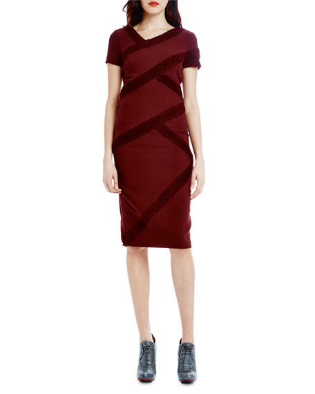 Raoul Marielle Short-Sleeve Sheath Dress