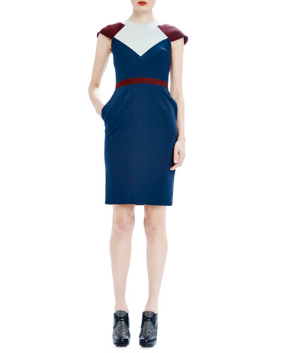 Clementine Colorblock Day Dress