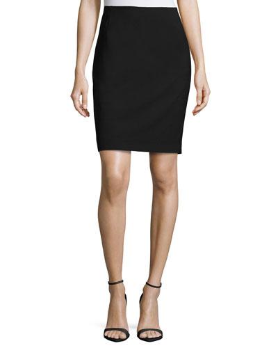 Bennet Stretch-Wool Pencil Skirt
