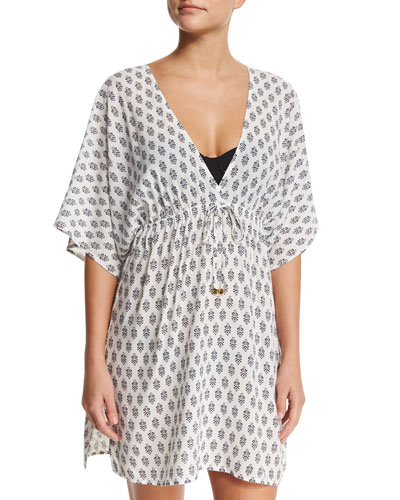Printed Beach Coverup Dress