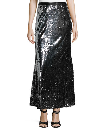 Sequined Fishtail Ball Skirt