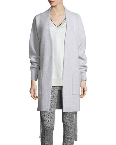 Sienna Sweater Coat, Light Gray