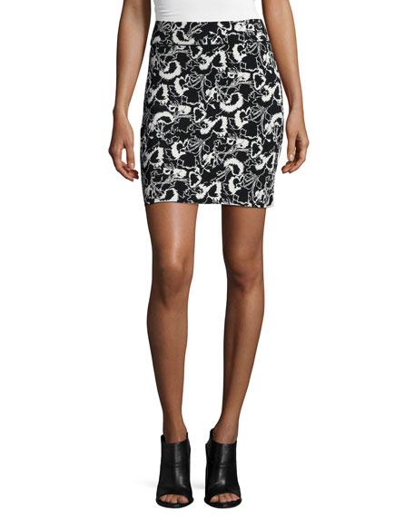 Rag & Bone Liberty Floral-Print Skirt, Ivory