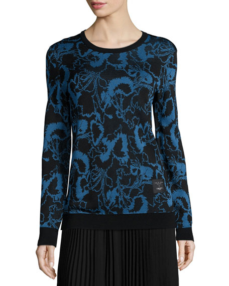 Rag & Bone Liberty Floral Pullover Sweater, Blue