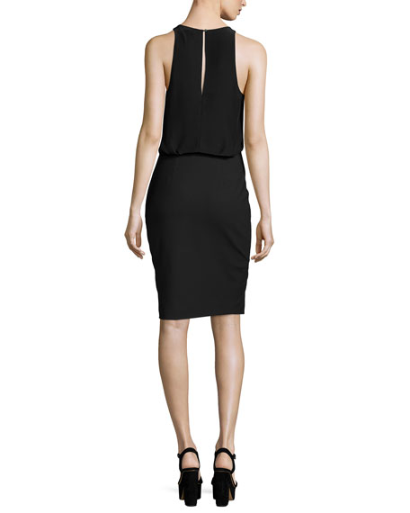 Jenna Sleeveless Sheath Dress, Black