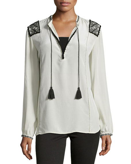 FigueMartin Long-Sleeve Top, Fossil