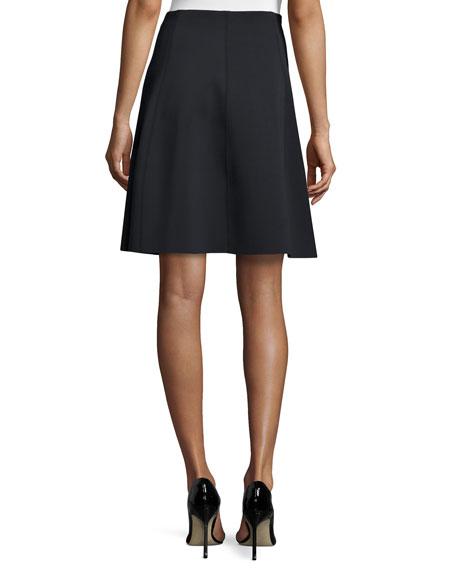 theory igtios mod knit a line skirt black
