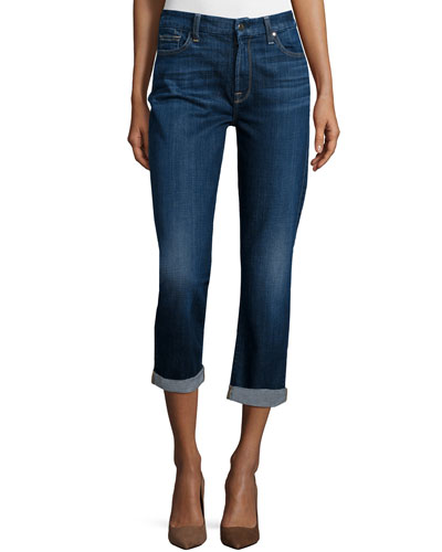 Sonoma Straight-Leg Cropped Roll-Cuff Jeans