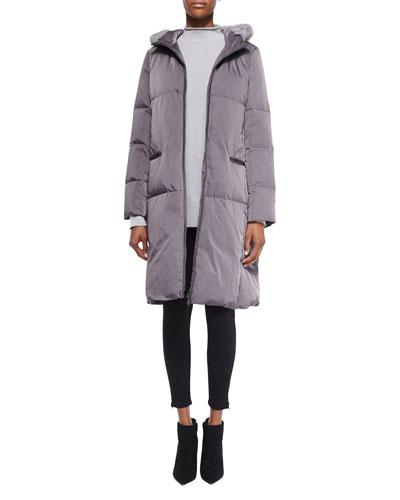 Lorna Down Coat W/ Mink Fur Trim , Women