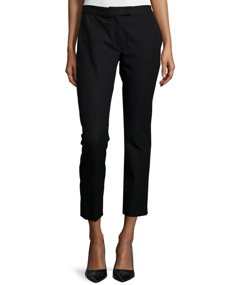 Joseph Gabardine Stretch Ankle Pants, Black