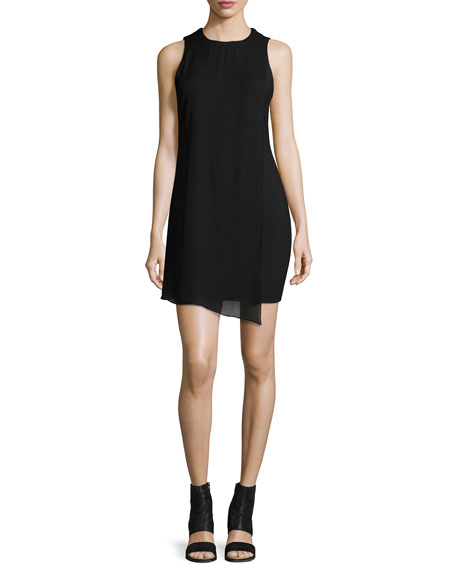Elizabeth and James Felicia Asymmetric Shift Dress, Black