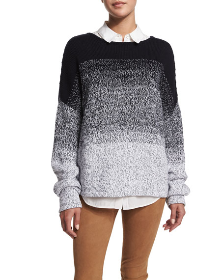 VinceTextured Ombre Pullover Sweater