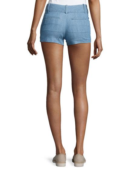 Cady Chambray Shorts, Blue