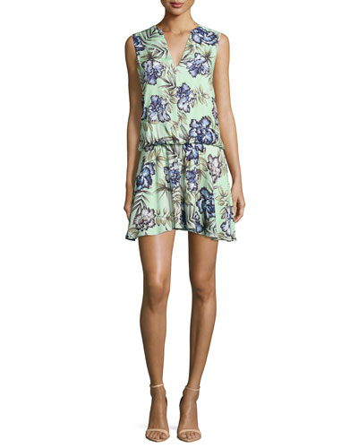 Brook Oasis Floral-Mint Dress, Multi Colors