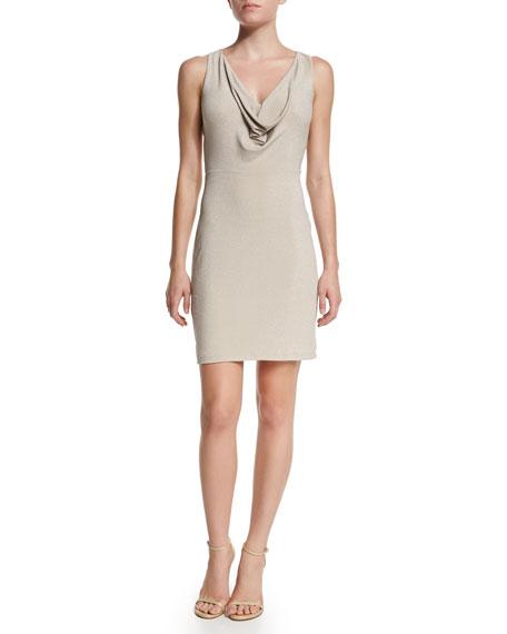 BCBGMAXAZRIA Sleeveless V-Neck Crisscross-Back Dress