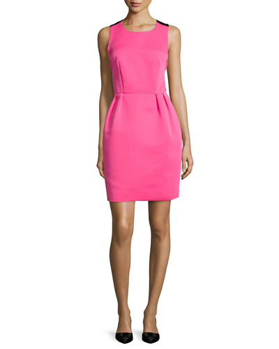 sleeveless bow-back dress, pink