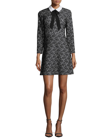 ERIN erin fetherstonMina Bow-Tie Lace Cocktail Dress