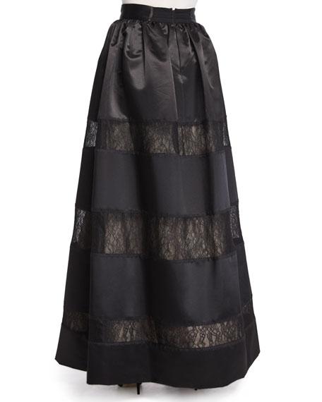 Prima Lace-Panel Ball Skirt