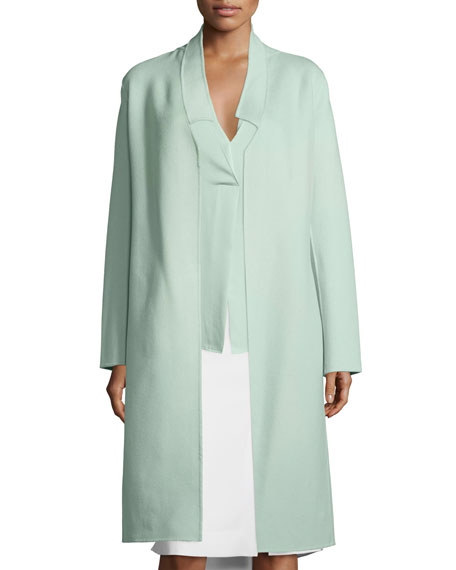 Halston Heritage Double-Face Belted Coat
