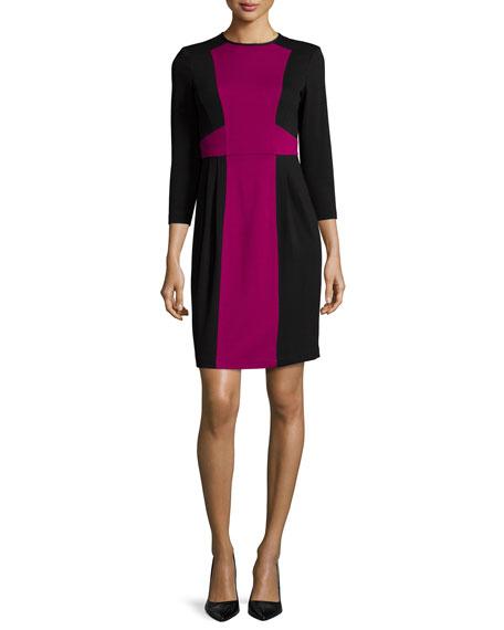 Nanette Lepore 3/4-Sleeve Colorblock Sheath Dress