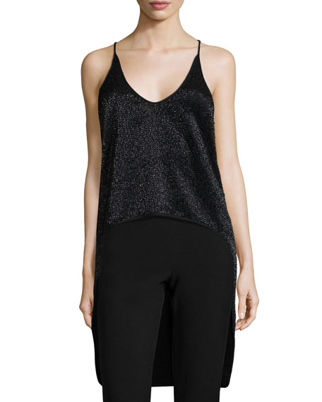 Halston Heritage Beaded High-Low Tank