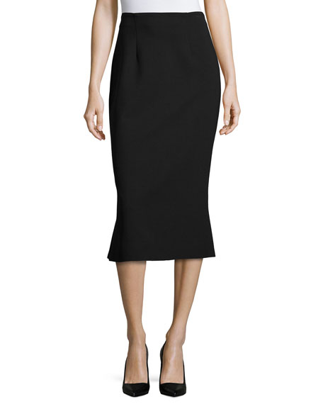 n/nicholas Ponte Flare-Back Skirt, Black