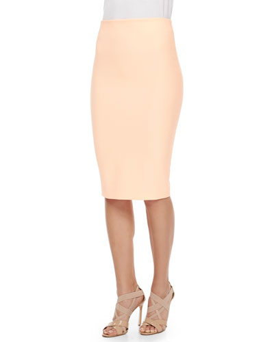 Aisling Stretch Pencil Skirt, Orange