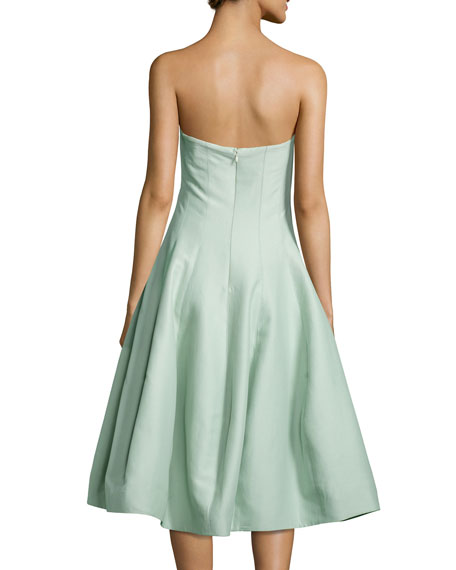 Strapless Geo-Notched Tulip Dress