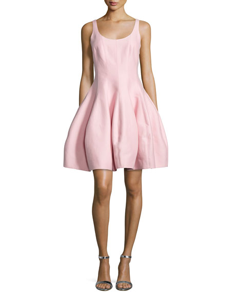 Halston Heritage Sleeveless Structured Fit & Flare Dress, Lotus