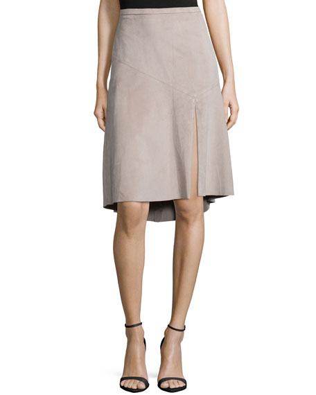 Halston Heritage Knee-Length Ultrasuede® Skirt