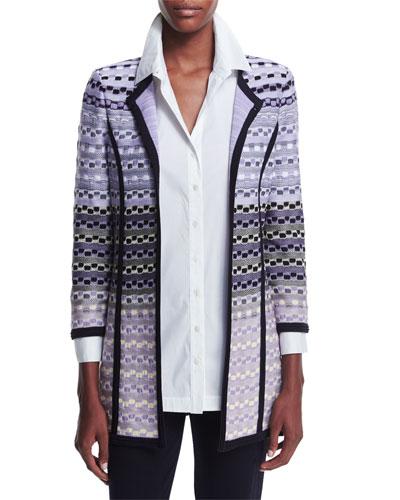 Patterned Long Jacket, Women's
