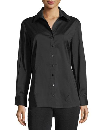Long-Sleeve Button-Front Shirt