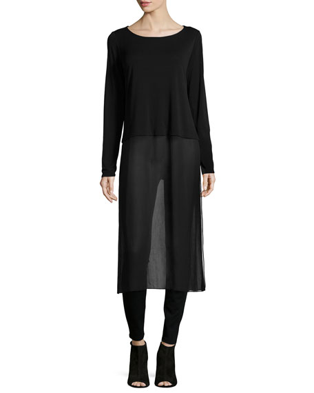Eileen Fisher Long-Sleeve Duster W/ Slip