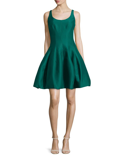 Sleeveless Cocktail Dress W/ Structured Tulip Skirt