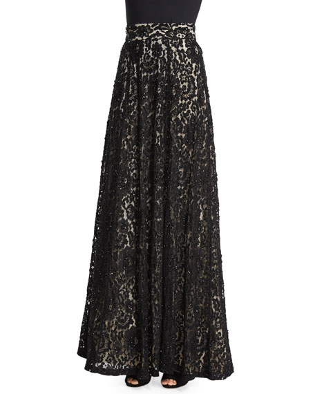Alice + Olivia Issa Lace Ball Skirt