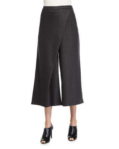 Wide-Leg Karate Pants, Charcoal, Petite